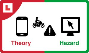 Theory test kit for motorcycle eLearning product icon