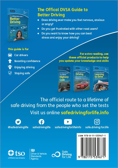 Official DVSA Guide to Better Driving back cover