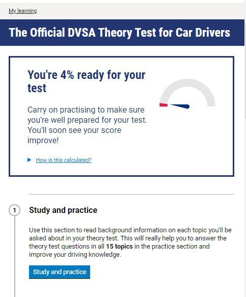 Official DVSA Theory Test Kit for Car Drivers homepage screenshot