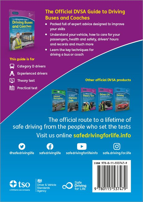 Official DVSA Guide to Driving Buses and Coaches back cover