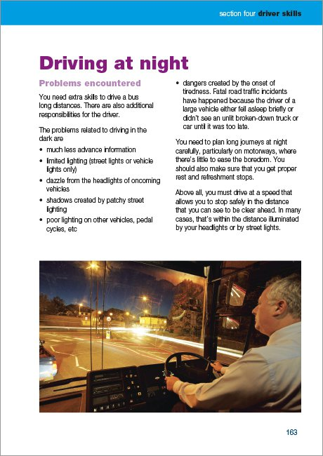 Official DVSA Guide to Driving Buses and Coaches page 163