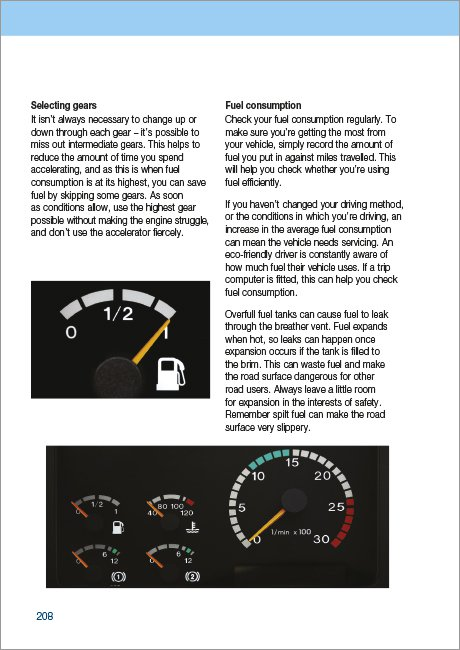 Official DVSA Guide to Driving Buses and Coaches page 208