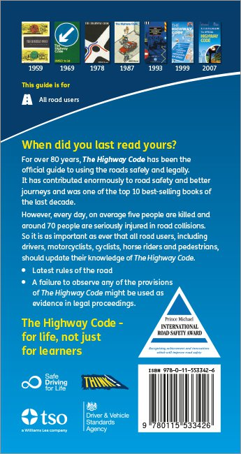 Official DVSA Highway Code back cover