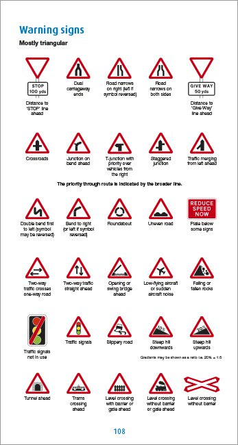 Official DVSA Highway Code page 108