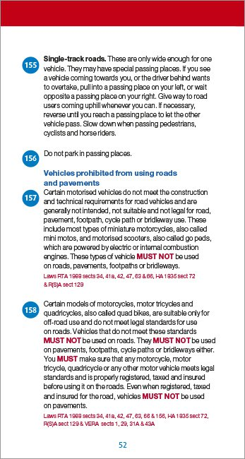 Official DVSA Highway Code page 52