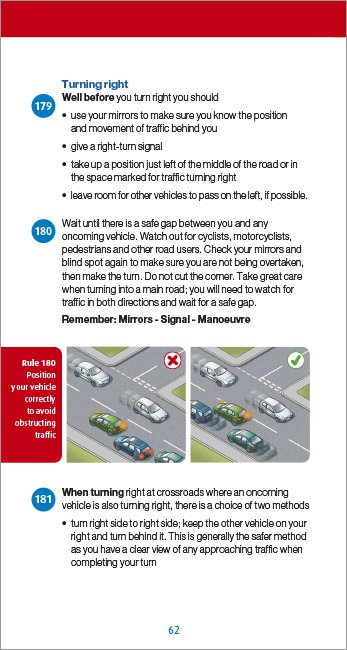 Official DVSA Highway Code page 62