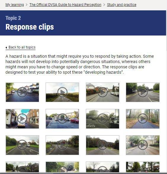 Official DVSA Guide to Hazard Perception videos screenshot