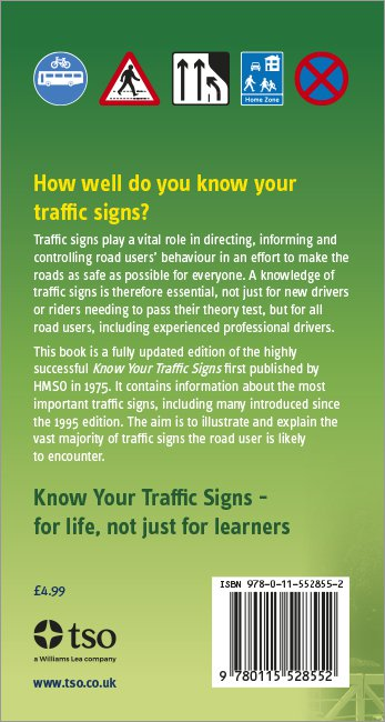 Know your Traffic Signs back cover