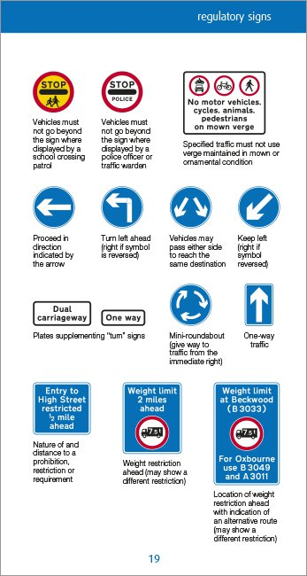 Know your Traffic Signs page 19