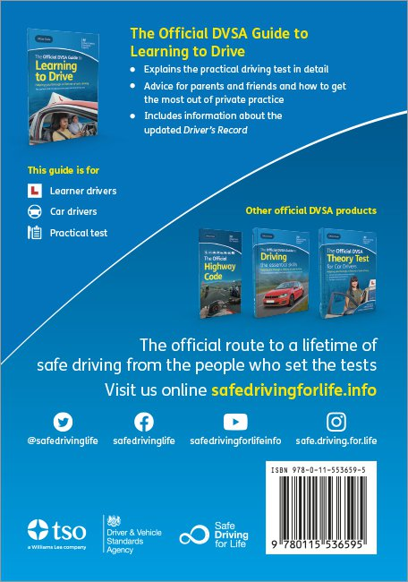 Official DVSA Guide to Learning to Drive back cover