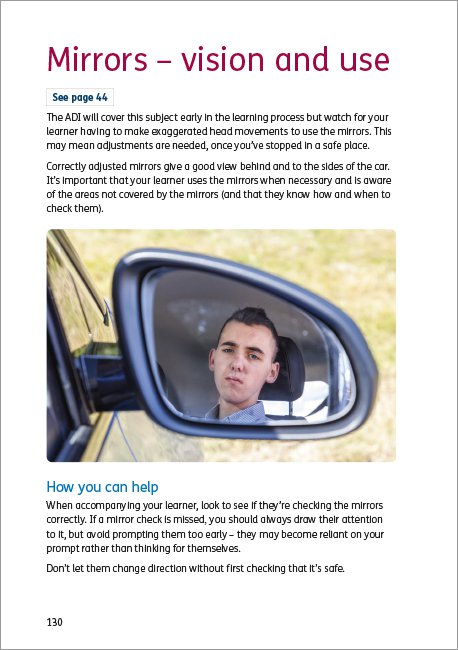 Official DVSA Guide to Learning to Drive page 130