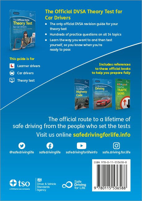 Official DVSA Theory Test for Car Drivers back cover