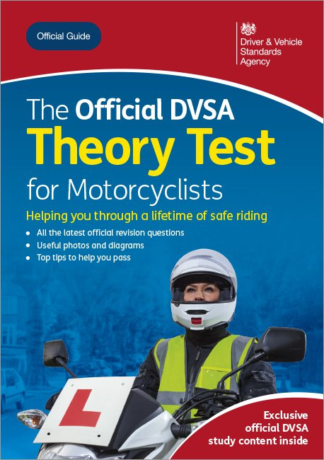Official DVSA Theory Test for Motorcyclists front cover