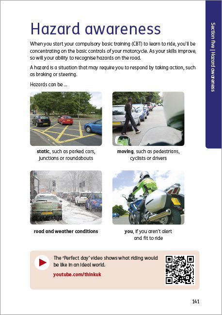 Official DVSA Theory Test for Motorcyclists page 141