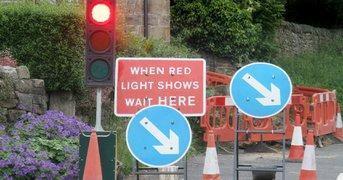 traffic light road works